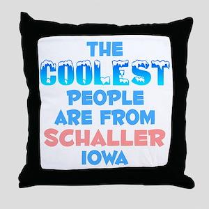 Coolest: Schaller, IA Throw Pillow
