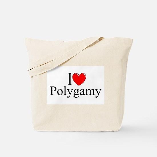 """I Love (Heart) Polygamy"" Tote Bag"