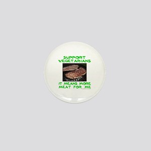 SUPPORT VEGETARIANS Mini Button