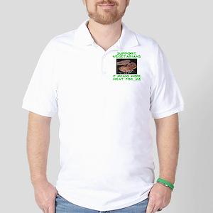 SUPPORT VEGETARIANS Golf Shirt