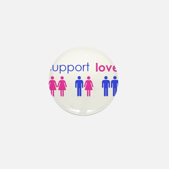 Cute Support gay marriage Mini Button