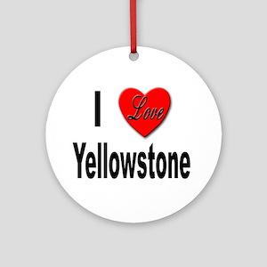 I Love Yellowstone Keepsake (Round)