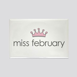 Miss February Rectangle Magnet
