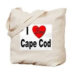 I Love Cape Cod Tote Bag