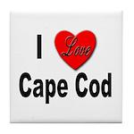 I Love Cape Cod Tile Coaster