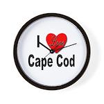 I Love Cape Cod Wall Clock