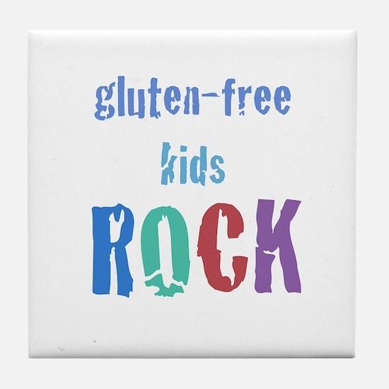 Gluten-Free Kids Rock! Tile Coaster