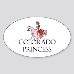 Colorado Princess Oval Sticker