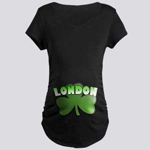 London Shamrock Maternity Dark T-Shirt