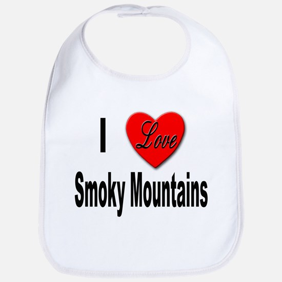 I Love Smoky Mountains Bib