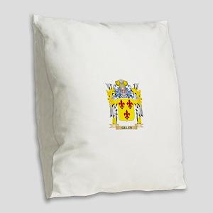 Gillen Coat of Arms - Family C Burlap Throw Pillow
