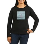 Know your friends well Women's Long Sleeve Dark T-