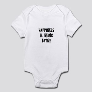Happiness is being Layne Infant Bodysuit