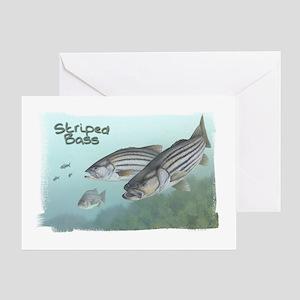 Striped Bass, Fish Greeting Card