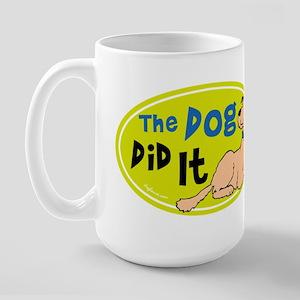 The Dog Did It Large Mug