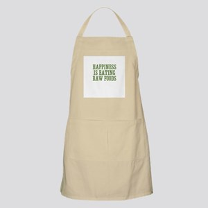 Happiness Is Eating Raw Foods BBQ Apron