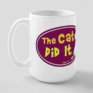 The Cat Did It Large Mug