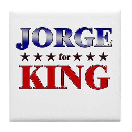 JORGE for king Tile Coaster