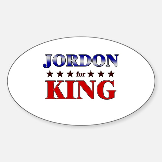 JORDON for king Oval Decal