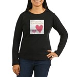 Keep a Spare Heart Women's Long Sleeve Dark T-Shir