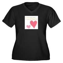 Keep a Spare Heart Women's Plus Size V-Neck Dark T