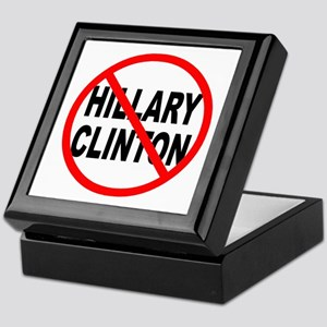 Anti Hillary Clinton Keepsake Box