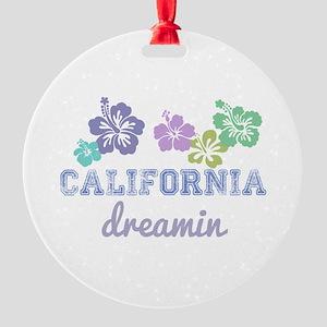 California Dreamin Round Ornament