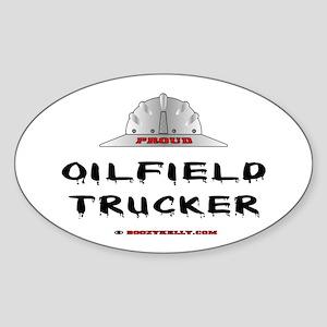 Oilfield Trucker Oval Sticker