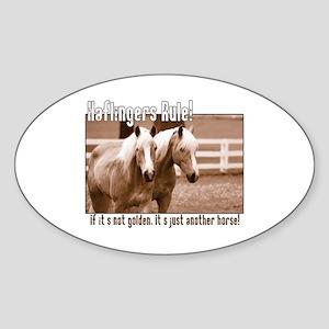 Haflinger Horse Oval Sticker