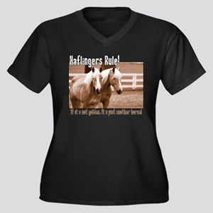 Haflinger Horse Women's Plus Size V-Neck Dark T-Sh