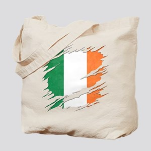 Ripped Reveal of Irish Flag Tote Bag