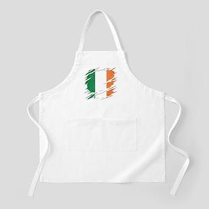 Ripped Reveal of Irish Flag Light Apron