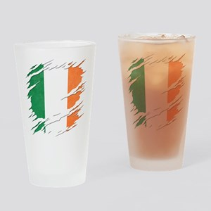 Ripped Reveal of Irish Flag Drinking Glass
