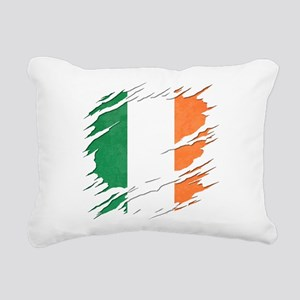 Ripped Reveal of Irish F Rectangular Canvas Pillow