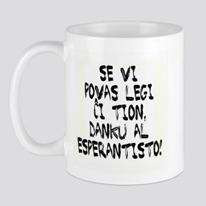 Se Vi Povas Legi/If You Can R Mug