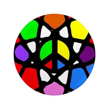 "Atomic Peace 3.5"" Button"