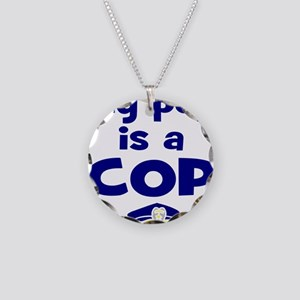 Pop is a cop Necklace Circle Charm
