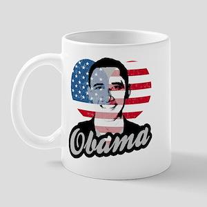 Barack Obama American Heart Mug