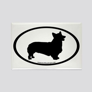 Welsh Corgi Oval Rectangle Magnet