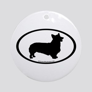Welsh Corgi Oval Ornament (Round)