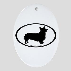 Welsh Corgi Oval Oval Ornament