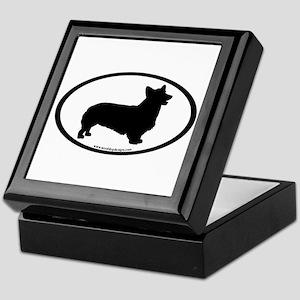 Welsh Corgi Oval Keepsake Box