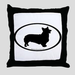 Welsh Corgi Oval Throw Pillow