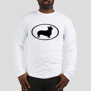 Welsh Corgi Oval Long Sleeve T-Shirt