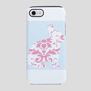 Pink Damask Rabbit iPhone 8/7 Tough Case