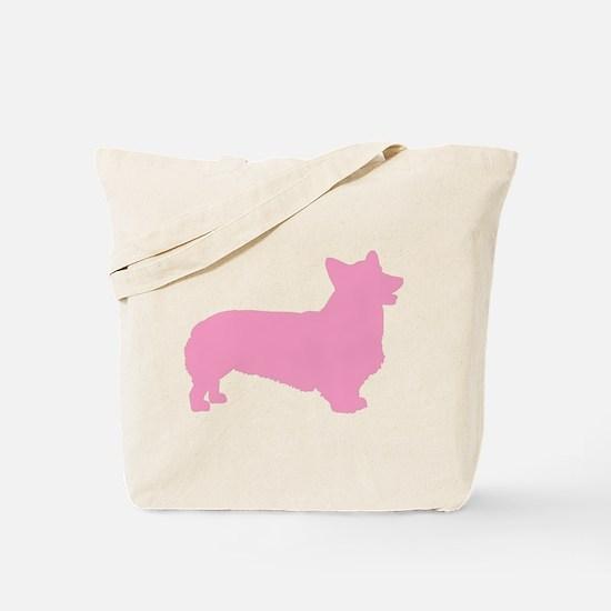 Pink Pembroke Welsh Corgi Tote Bag