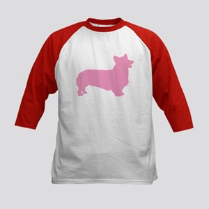 Pink Pembroke Welsh Corgi Kids Baseball Jersey
