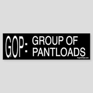 """GOP"" Defined Bumper Sticker"
