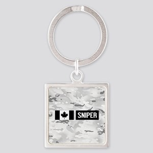 Canadian Military: Sniper (Arctic) Square Keychain