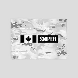 Canadian Military: Sniper (Arctic) 5'x7'Area Rug